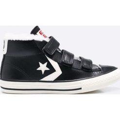 Converse - Trampki dziecięce. Szare buty sportowe chłopięce marki Converse, z materiału. W wyprzedaży za 199,90 zł.