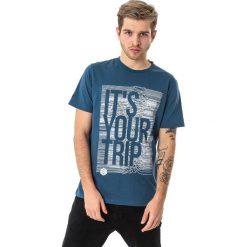 4f Koszulka męska H4L18-TSM012 niebieska r. XL. Niebieskie koszulki sportowe męskie marki 4f, l. Za 36,00 zł.