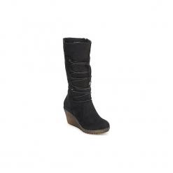 Kozaki Xti  WEDGE BOOT. Czarne buty zimowe damskie marki Xti. Za 311,20 zł.