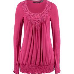 Tunika shirtowa, długi rękaw bonprix jeżynowy. Fioletowe tuniki damskie z długim rękawem bonprix. Za 74,99 zł.