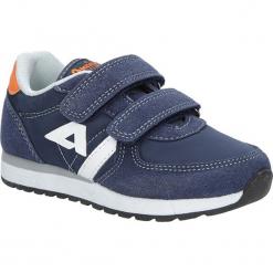 Granatowe buty sportowe na rzepy American BS-C2922. Szare buciki niemowlęce American, na rzepy. Za 69,99 zł.