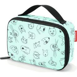 Torba chłodząca Thermocase  Cats and Dogs miętowa. Zielone torby plażowe marki Reisenthel. Za 59,00 zł.