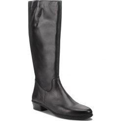 Kozaki RIEKER - Y0796-00 Schwarz. Czarne buty zimowe damskie marki Rieker, z materiału. Za 329,00 zł.