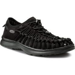 Sandały KEEN - Uneek 02 1018709  Black/Black. Czarne sandały męskie Keen, z materiału. W wyprzedaży za 269,00 zł.
