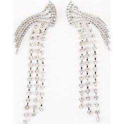 Biżuteria i zegarki: NA-KD Party Wiszące kolczyki z kryształami górskimi – Silver