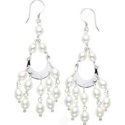Kolczyki damskie: Srebrne kolczyki z perłami