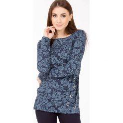 Bluzy rozpinane damskie: Bluza z kwiatowym wzorem