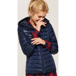 Pikowana kurtka z kapturem - Granatowy. Niebieskie kurtki damskie pikowane marki House, l, z kapturem. Za 99,99 zł.