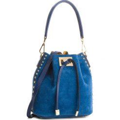 Torebka CREOLE - K10506  Granat. Niebieskie torebki worki Creole, ze skóry. W wyprzedaży za 179,00 zł.