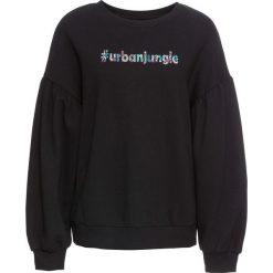 Bluzy damskie: Bluza bonprix czarny z nadrukiem