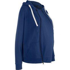 Bluza rozpinana ciążowa z wstawką niemowlęcą na nosidełko bonprix kobaltowy. Niebieskie bluzy ciążowe marki bonprix. Za 139,99 zł.