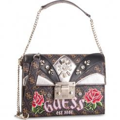 Torebka GUESS - HWSG71 83210 BROWN. Brązowe torebki klasyczne damskie Guess, z aplikacjami, ze skóry ekologicznej. Za 679,00 zł.