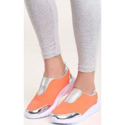 Pomarańczowe Buty Sportowe Siggy. Brązowe buty sportowe damskie marki NEWFEEL, z gumy. Za 39,99 zł.