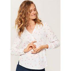 Bluzki damskie: Bluzka koszulowa - Biały