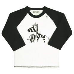 Nini Chłopięca Koszulka 68 Biały/Czarny. Białe t-shirty chłopięce Nini, z motywem zwierzęcym, z bawełny. Za 33,00 zł.