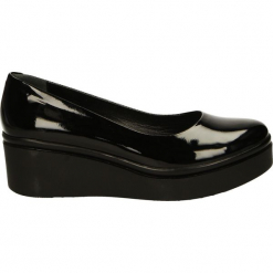Czółenka - 88252 NERO211. Czarne buty ślubne damskie Venezia, ze skóry, na koturnie. Za 219,00 zł.