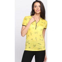 Bluzki, topy, tuniki: Żółty T-shirt Don't Ask