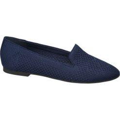 Lordsy damskie Graceland niebieskie. Czarne lordsy damskie marki Graceland, w kolorowe wzory, z materiału. Za 89,90 zł.