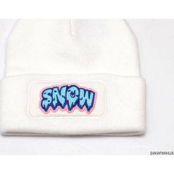 Czapki zimowe damskie: Czapka Beanie White Snow