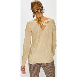 Answear - Sweter Animal Me. Szare swetry klasyczne damskie ANSWEAR, l, z dzianiny, z okrągłym kołnierzem. W wyprzedaży za 119,90 zł.