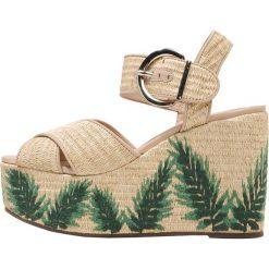 Rzymianki damskie: Schutz Sandały na obcasie platina