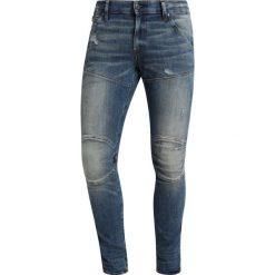 GStar 5620 3D SKINNY Jeans Skinny Fit elto superstretch medium aged antic destroy. Niebieskie rurki męskie marki G-Star, z bawełny. Za 609,00 zł.