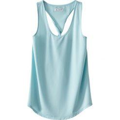 Koszulka sportowa na ramiączkach, tył w stylu bokserki. Szare topy sportowe damskie marki La Redoute Collections, m, z bawełny, z kapturem. Za 62,96 zł.