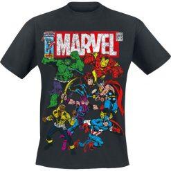 Marvel Team Up T-Shirt czarny. Czarne t-shirty męskie z nadrukiem Marvel, s, z okrągłym kołnierzem. Za 74,90 zł.