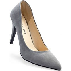 Czółenka bonprix szary. Szare buty ślubne damskie bonprix, na szpilce. Za 79,99 zł.