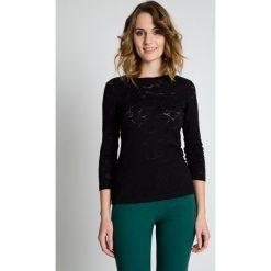 Bluzki asymetryczne: Czarna oryginalna bluzka z rękawem 3/4 BIALCON
