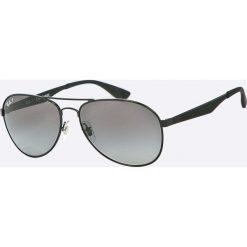 Ray-Ban - Okulary RB3549. Szare okulary przeciwsłoneczne męskie aviatory Ray-Ban, z materiału. Za 699,90 zł.