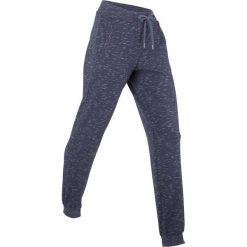 Spodnie sportowe, długie, Level 1 bonprix jagodowy melanż. Fioletowe spodnie dresowe damskie marki DOMYOS, l, z bawełny. Za 109,99 zł.