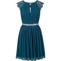 Sukienki: Sukienka z koronką bonprix niebieskozielony morski