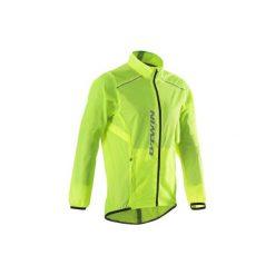 Kurtka przeciwdeszczowa na rower szosowy ROADCYCLING 100 męska. Żółte kurtki męskie przeciwdeszczowe marki B'TWIN, m, z materiału. Za 69,99 zł.