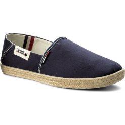 Espadryle TOMMY JEANS - Summer Slip On Shoe EM0EM00027 Ink 006. Niebieskie espadryle męskie Tommy Jeans, z jeansu. W wyprzedaży za 159,00 zł.