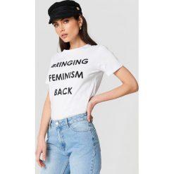 Trendyol T-shirt Feminism Statement - White. Zielone t-shirty damskie marki Emilie Briting x NA-KD, l. Za 60,95 zł.