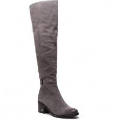 Muszkieterki NESSI - 18452 Szary W2. Czarne buty zimowe damskie marki Nessi, z materiału, na obcasie. Za 449,00 zł.