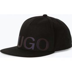 HUGO - Męska czapka z daszkiem – Men-X541/1, czarny. Czarne czapki z daszkiem męskie HUGO, z nadrukiem. Za 219,95 zł.