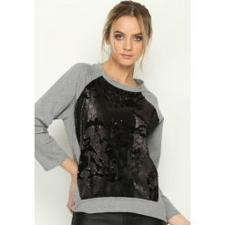 Bluzy rozpinane damskie: Szara Bluza Inspiring Thing