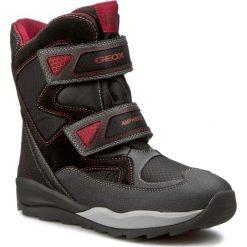 Buty zimowe chłopięce: Śniegowce GEOX – J Orizont B ABX C D J640BC 0FU22 C0048  Czarny/Czerwony