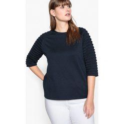 Bluza z krótkim rękawem. Szare bluzy damskie CASTALUNA, z elastanu, z krótkim rękawem, krótkie. Za 102,86 zł.