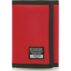 Portfele męskie: Materiałowy portfel – Czerwony