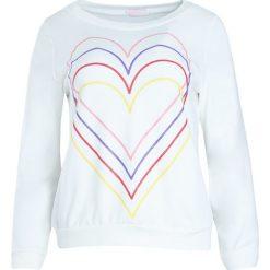 Biała Bluza Just Flexing. Białe bluzy damskie Born2be, l, z aplikacjami. Za 24,99 zł.