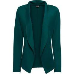 Żakiet shirtowy bonprix głęboki zielony. Brązowe marynarki i żakiety damskie marki bonprix. Za 124,99 zł.