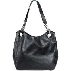 Shopper bag damskie: Torba shopper z łańcuszkami bonprix czarny