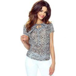 Bluzki asymetryczne: ILONA - wygodna i elegancka bluzka panterka