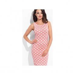 Sukienka sydey różowa w kropki. Czerwone sukienki balowe marki Cocoviu, do pracy, l, trapezowe. Za 84,00 zł.