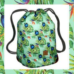 BLUE BIRDS & GREEN dwustronny plecak SACK IT!. Niebieskie plecaki męskie Pakamera. Za 165,00 zł.