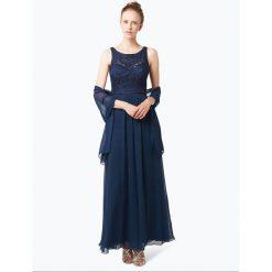 Sukienki: Niente – Damska sukienka wieczorowa z etolą, niebieski