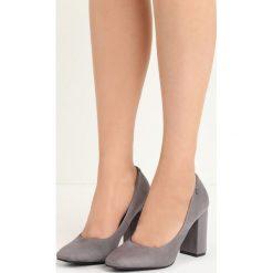 Szare Czółenka Temptress. Szare buty ślubne damskie Born2be, na wysokim obcasie, na słupku. Za 79,99 zł.
